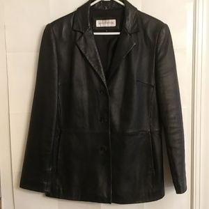 Jones Of New York Women's Leather Jacket Size M